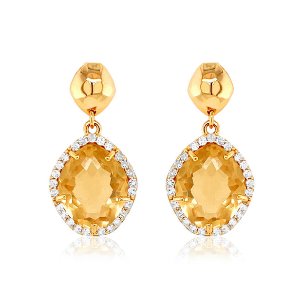 PANORAMA Earrings - Light Citrine / YG