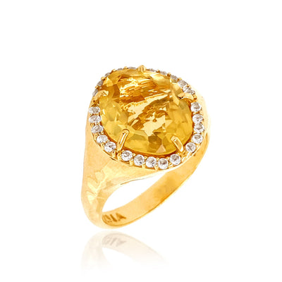PANORAMA Ring - Light Citrine /  YG