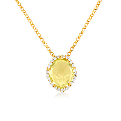 PANORAMA Necklace - Lemon Citrine / YG