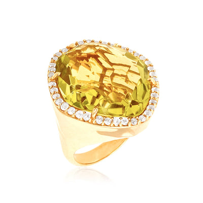 PANORAMA Ring - Lemon Citrine / YG