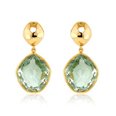 PANORAMA Earrings - Prasiolite / YG