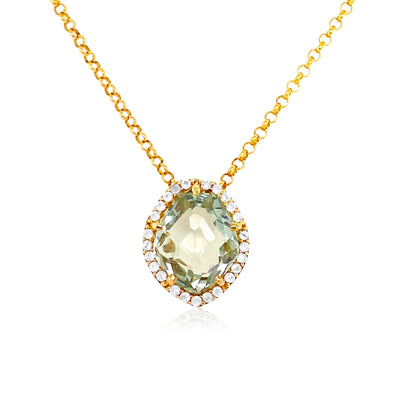 PANORAMA Necklace - Prasiolite / YG
