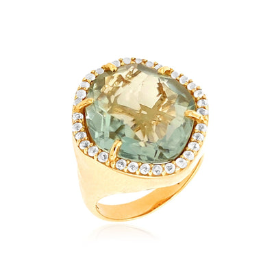 PANORAMA Ring - Prasiolite /  YG