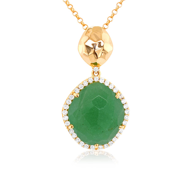 PANORAMA Necklace - Green Quartz /  YG