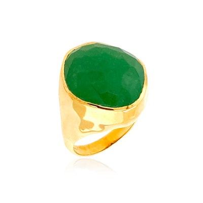 PANORAMA Ring - Green Quartz / YG