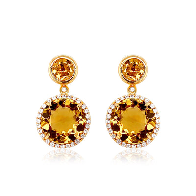 SIGNATURE Earrings - Champagne Citrine / YG