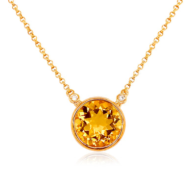SIGNATURE Necklace - Champagne Citrine / YG