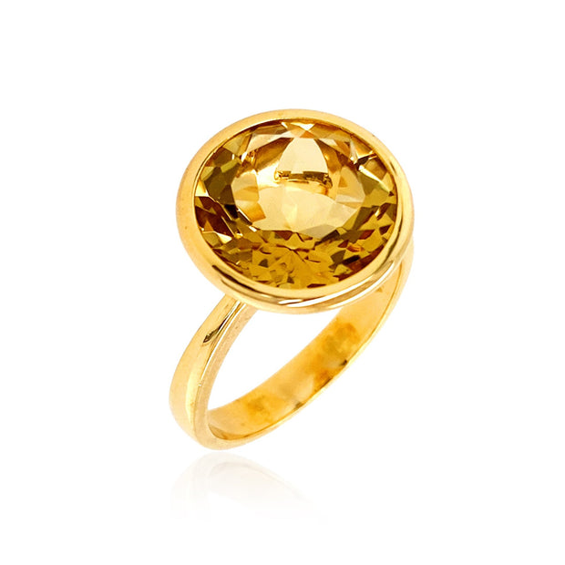 SIGNATURE Ring - Champagne Citrine / YG