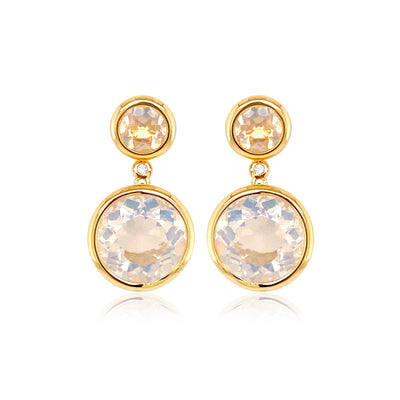 SIGNATURE Earrings - Opal Quartz / YG