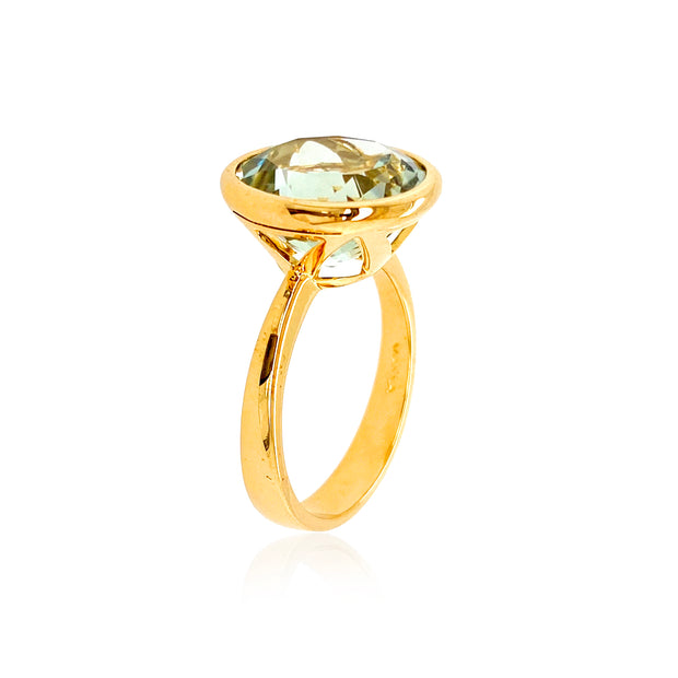 SIGNATURE Ring - Prasiolite / YG