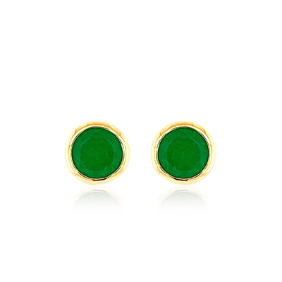 SIGNATURE Earrings - Green Quartz / YG
