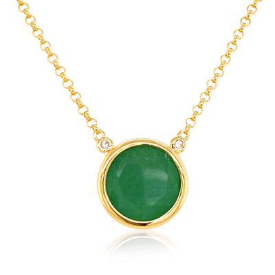 SIGNATURE Necklace - Green Quartz / YG