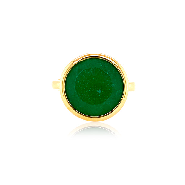 SIGNATURE Ring - Green Quartz / YG