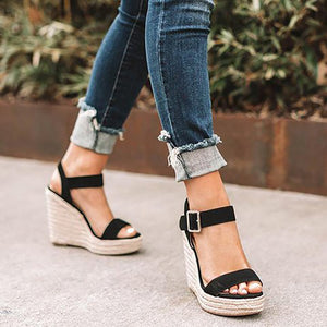 New For 2020 Summer Beach Girl Open Toe Platform Wedges Sandals - SolBikini