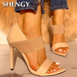 New 2020! Summer Fashion Sexy Party Club Casual High Heel Shoes - SolBikini