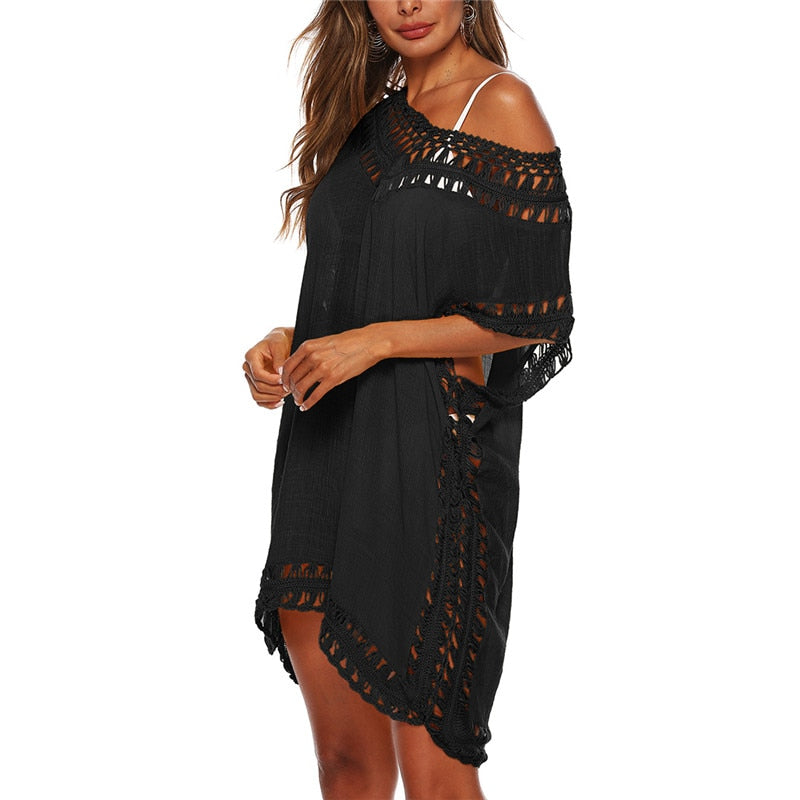 New For 2020 Sexy Summer Beach Girl Women's Tunic Dress Cover-Up - SolBikini