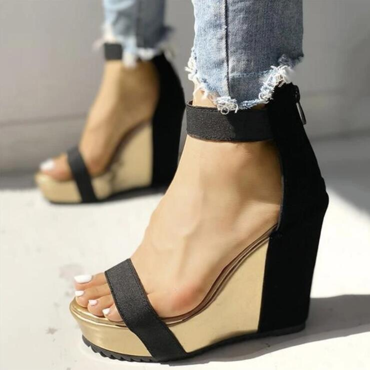 New for 2020 summer beach fashion platform wedge casual sandals - SolBikini