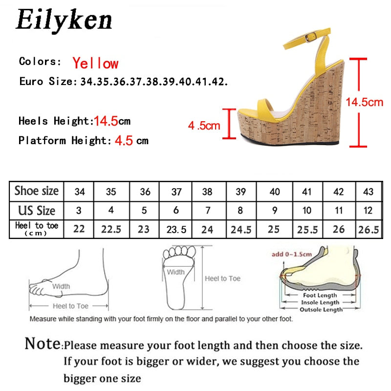 New For 2020 Sandals Wedge Ankle Buckle Strap Platform Shoes - SolBikini