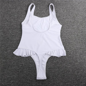 Sexy new for 2020 swimsuit thong, one piece, swimwear, , black and white monokini - SolBikini