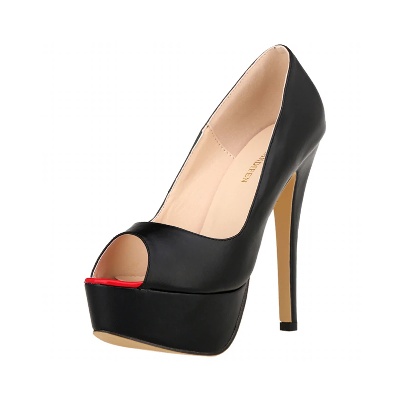 New 2020! Black Summer Fashion Sexy 5 inch Platform Cocktail Party High Hell Pumps - SolBikini