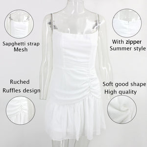 Mesh Chiffon New 2020! Sexy Elegant Mini Lace Casual Beach Girl Dress - SolBikini
