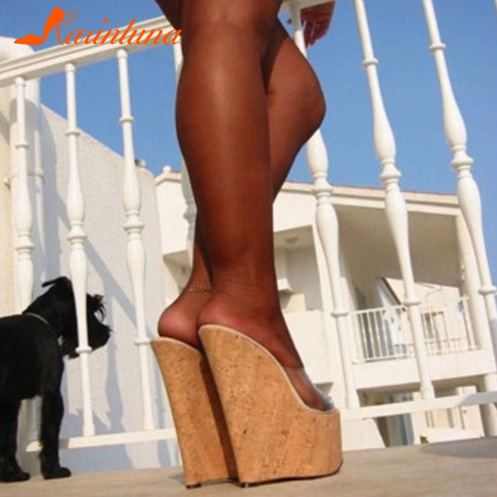Sexy super high platform wedge sandals new for 2020 casual beach shoes - SolBikini