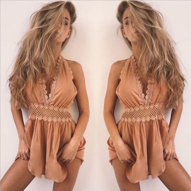 2020 New Jumpsuit Sexy Romper Causal Beach out - SolBikini