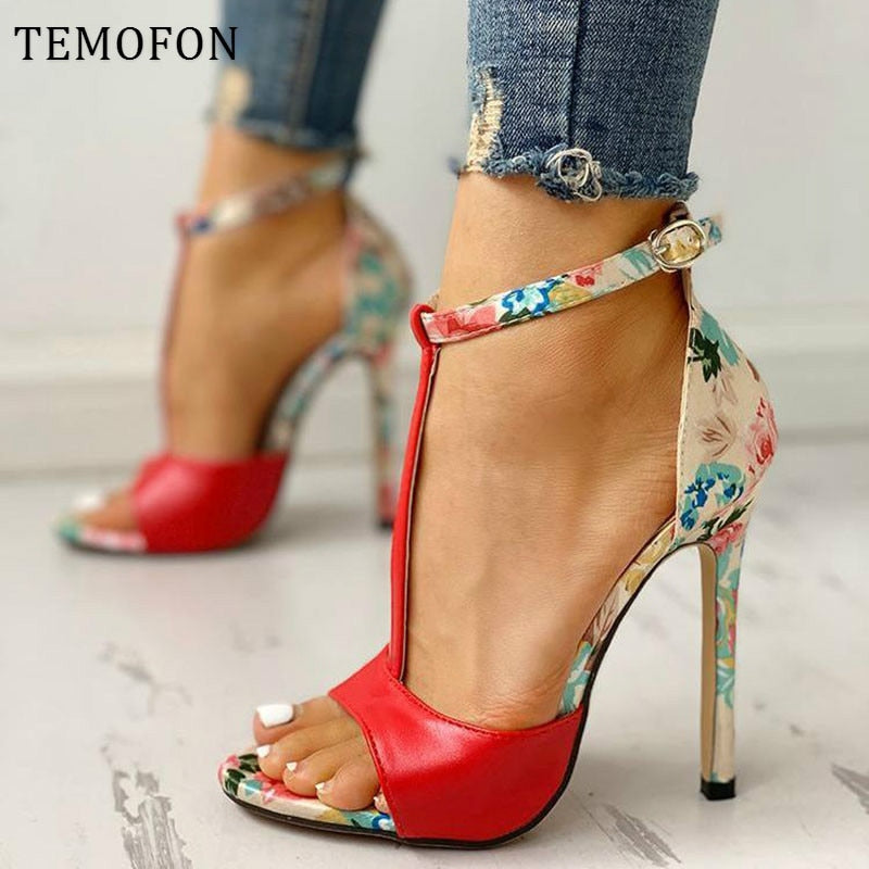 Sexy New 2020! Woman's Fashion Peep Toe Casuals High Heels Shoes With Ankle Strap - SolBikini