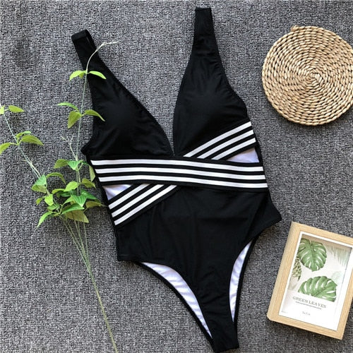 One piece monokini swimwear 2020 padded swimsuit hollow out bathing suit beach wear - SolBikini