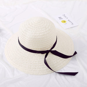 Summer straw big straw hat  uv protection panama floppy beach hat - SolBikini