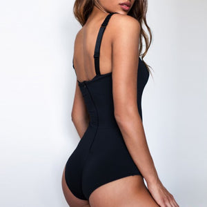 NEW Underwire Bra Cup One Piece Swimsuit Push Up Swimwear Monokini Bather Bathing Suit Swimwear Sexy Bodysuit - SolBikini