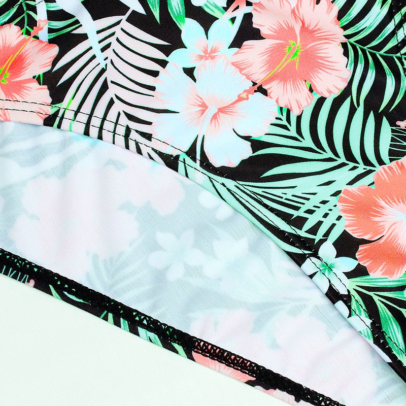 Swimwear Swimsuit Sexy Bikini 2020 New Push Up Bikini Set Bathing Suit Print Floral Beach Wear - SolBikini