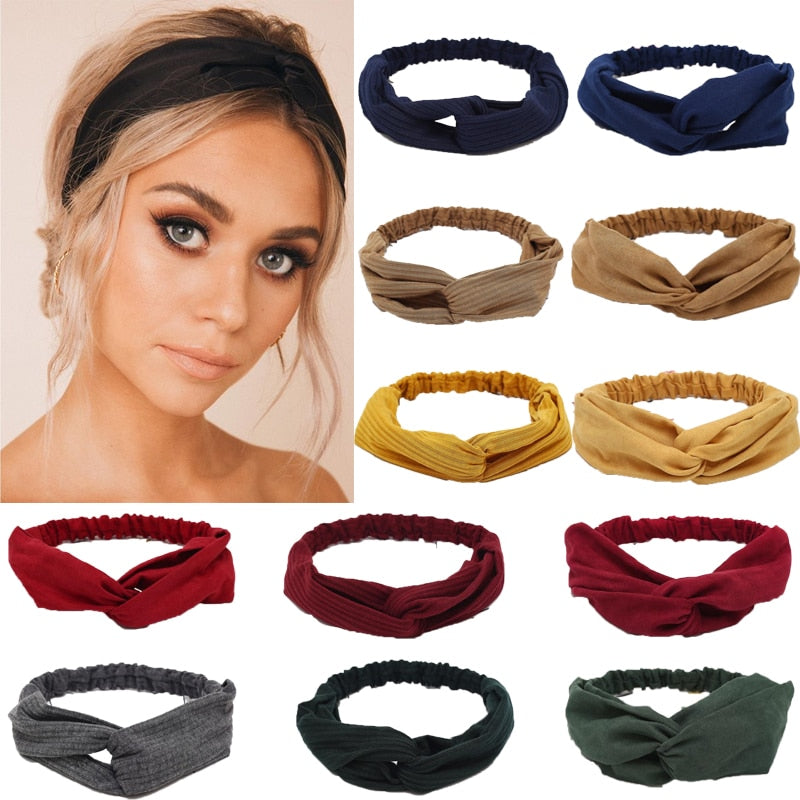 Solid Headband Elastic Head Wrap Hair Accessories - SolBikini