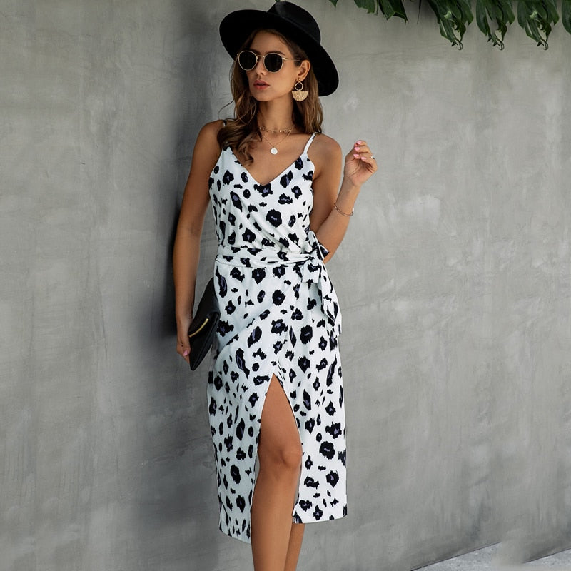 Cotton Dress Printed Summer Slip Sundress Sexy Backless Sleeveless Beach Midi For 2020 Ladies Dresses - SolBikini