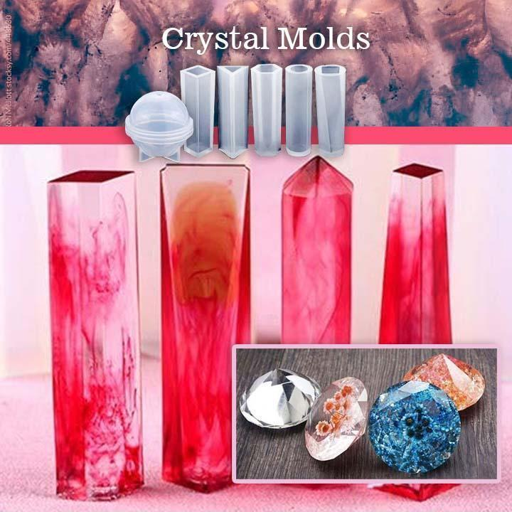 DIY Crystal Glue Jewelry Mold 83 Pcs Set