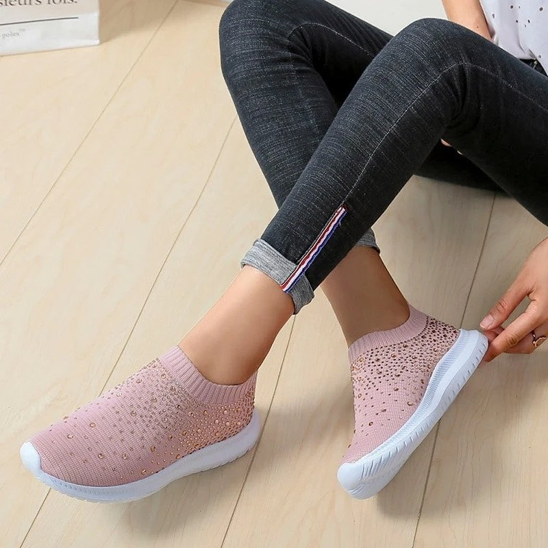 Crystal Slip on sneakers For Women (💥75% OFF TODAY ONLY💥)