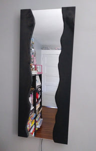 5ft. Faux Live Edge Wall Mirror with LED Lights