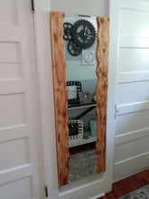 Load image into Gallery viewer, 5ft. Faux Live Edge Wall Mirror with LED Lights