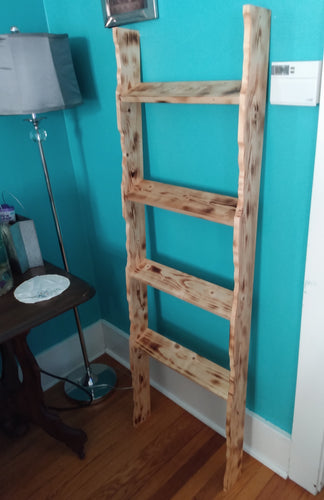 5ft. Faux Live Edge Blanket Ladder