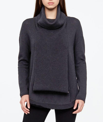 Zipper cowl pullover Grey