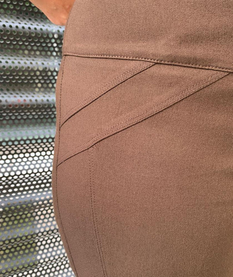 Angle pocket detail pull on pant - Mary Walter