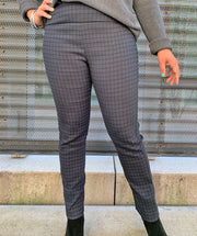Houndstooth pant navy/black combo