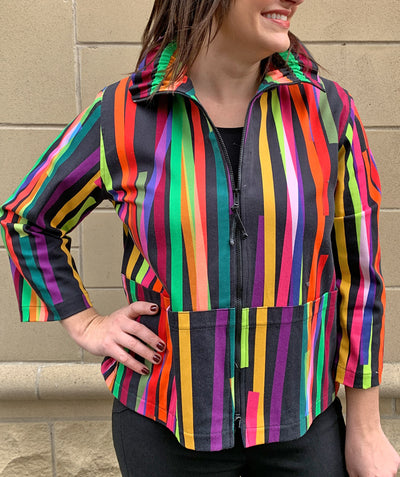 Living color zip up jacket