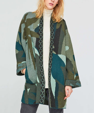 Dresden Green Sweater Jacket - Mary Walter