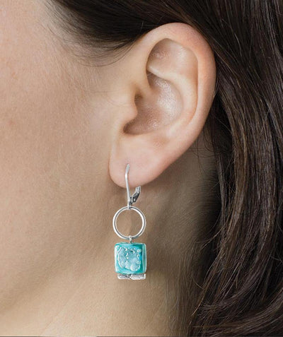 Aissa Dainty Drop Earring Peacock - Mary Walter