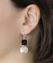 Clea Elegant Drop Earring Raven - Mary Walter
