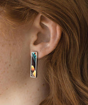 Mado Frame Earring Macaw - Mary Walter