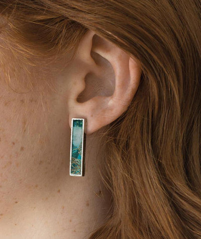 Mado Frame Earring Macaw Peacock - Mary Walter