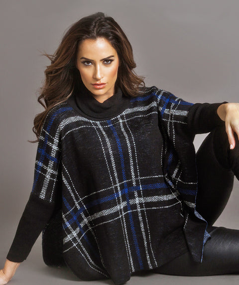Oversize Plaid Topper