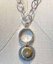 Duo Disk Necklace